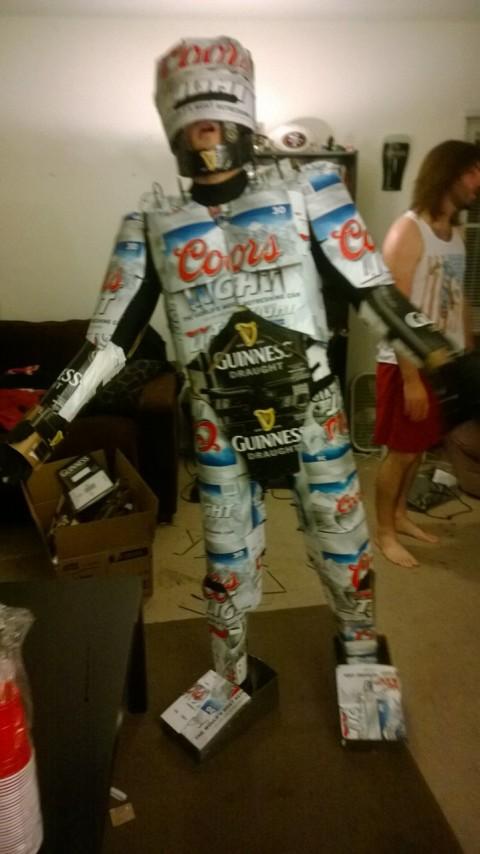 Brobocop Beer Box Robocop Costume u2013 Click to see video & Costume Fabrication